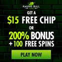 Raging Bull | 350% Bonus | $15 Free Chip